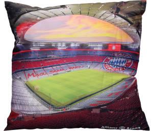 """FC Bayern München Kissen """"Allianz Arena"""" 40 x 40 cm"""