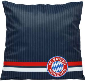 FC Bayern München Kissen 40 x 40 cm anthrazit