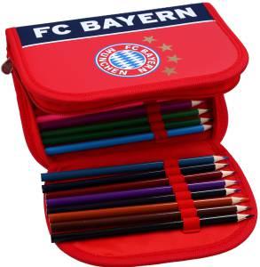 FC Bayern München Etui rot/navy, gefüllt