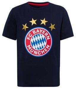 FC Bayern München Kinder T-Shirt Logo navy - verschiedene Größen