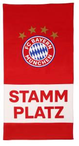 """FC Bayern München Strandtuch """"Stammplatz"""" 75 x 150 cm rot"""