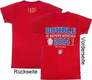FC Bayern München T-Shirt Double 2014, rot - verschiedene Größen