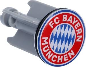 FC Bayern München Waschbecken Stöpsel Logo grau