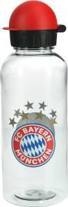 FC Bayern München Trinkflasche transparent 0,6 Liter