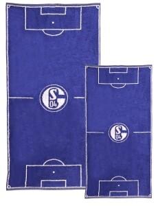 FC Schalke 04 2er-Set Handtuch und Duschtuch Spielfeld