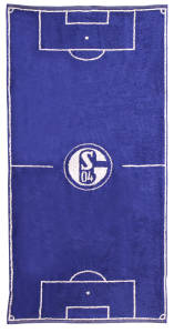 FC Schalke 04 Duschtuch Spielfeld 70x140cm