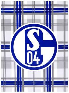 FC Schalke 04  Fleecedecke grau Karo 150 x 200 cm
