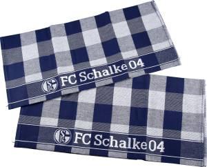 FC Schalke 04 Geschirrtuch 2er-Set 50 x 70 cm dunkelblau/ weiß
