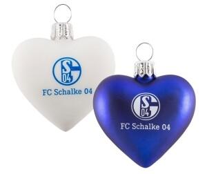 FC Schalke 04 Weihnachtskugeln Herz 2er Pack