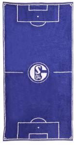 FC Schalke 04 Handtuch Spielfeld 50x100cm