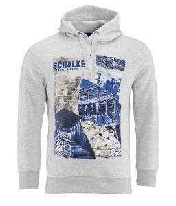FC Schalke 04 Herren Kapuzen-Sweatshirt Heritage grau - verschiedene Größen