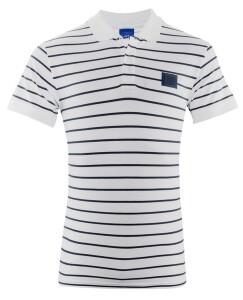 FC Schalke 04 Herren Polo Shirt 1904 weiß gestreift - verschiedene Größen