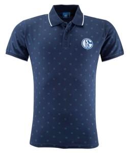FC Schalke 04 Herren Polo Shirt Allover navy - verschiedene Größen