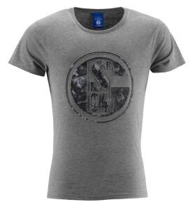 FC Schalke 04 Herren T-Shirt Prägung Print grau, - verschiedene Größen