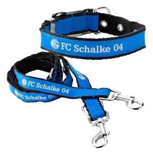 FC Schalke 04 Hundeleine und Hundehalbsband Gr. 2,5x42cm