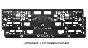 FC Schalke 04 Nummernschildunterleger 53x14cm 2er