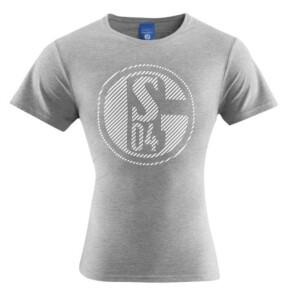 """FC Schalke 04 T-Shirt Damen """"Classic"""" grau - verschiedene Größen"""