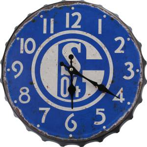 FC Schalke 04 Wanduhr Vintage groß 31 cm
