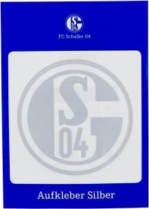 FC Schalke 04 Aufkleber silberfarben 8cm