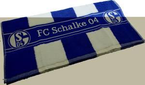 FC Schalke 04 Badetuch Blockstreifen 90 x 180 cm