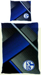 FC Schalke 04 Bettwäsche 135x200cm grau blau