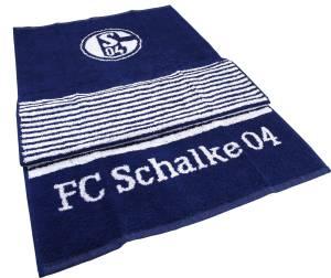 FC Schalke 04 Handtuch / Duschtuch Streifen marine, 70x140cm