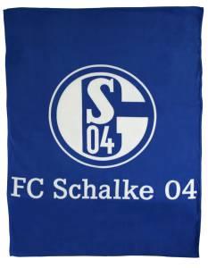 FC Schalke 04 Fleecedecke Logo 150 x 200 cm