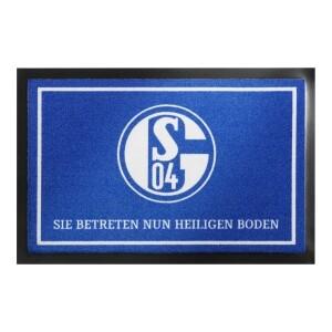 """FC Schalke 04 Fußmatte """"Heiliger Boden"""" 40x60cm"""