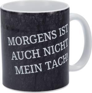 """FC Schalke 04 Tasse """"Morgens ist auch nicht mein Tach!"""""""