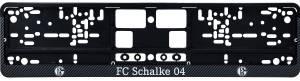 FC Schalke 04 Nummernschildunterleger Carbon