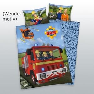 Feuerwehrmann Sam Bettwäsche 100x135cm, Renforcé