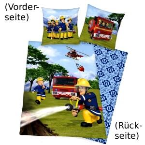 """Feuerwehrmann Sam Bettwäsche """"Löschen"""" 135x200cm, Renforcé"""