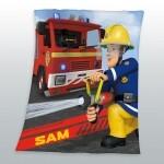Feuerwehrmann Sam Fleecedecke 130 x 160 cm