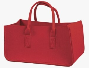 Filztasche mit 2 Henkeln rot