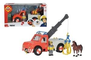 Feuerwehrmann Sam mit Figur und Pferd