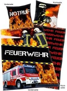 Feuerwehr Foto Bettwäsche Im Einsatz, 135x200cm