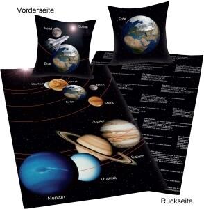 """Fun Collection Bettwäsche """"Unser Sonnensystem"""""""
