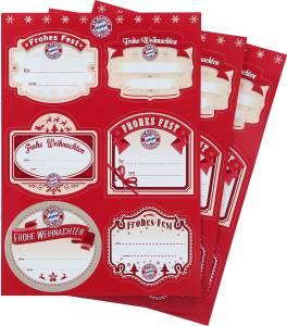 FC Bayern München Geschenk-Aufkleber 3er-Set