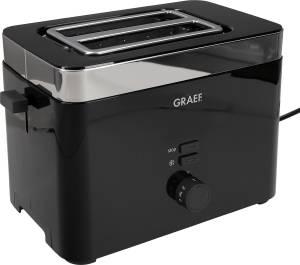 """Graef Toaster """"TO 62"""" 33,4 x 20,5 x 22,5 cm schwarz/ silberfarben, 1000 Watt"""
