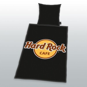 Hard Rock Cafe Bettwäsche 135x200cm schwarz, Renforcé