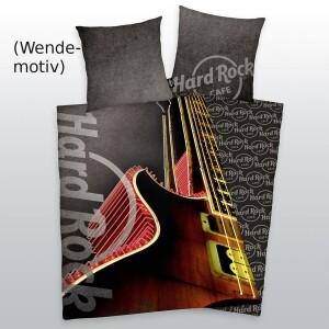 "Hard Rock Cafe Bettwäsche ""Gitarre"" 135x200cm, Renforcé"