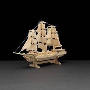 Holzbausatz Segelschiff 80 Teile