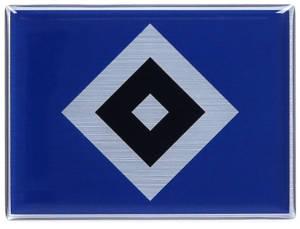 "HSV 3D Aufkleber Metallic ""Raute"" 6 x 4,4 cm"