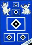"""HSV Aufkleberbogen """"Leuchtend"""" 14,8 x 21 cm"""