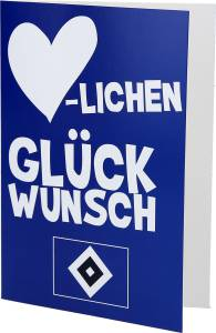 """HSV Grußkarte """"Herzlichen Glückwunsch"""" 18 x 12cm"""