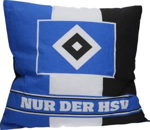 """HSV Kissen """"Nur der HSV"""" 38x38 cm"""