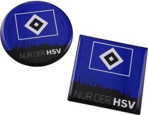 HSV Magnet Skyline 2er Set, 6,5 x 6,5 cm