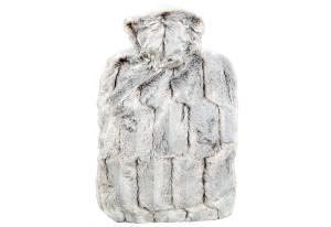 HUGO FROSCH Wärmflasche 1,8 Liter braun/ silberfarben
