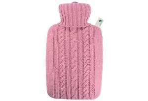 Hugo Frosch Wärmflasche Strick 25 x 19,5 cm 1,8l rosa