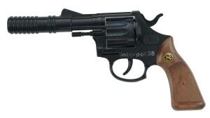 INTERPOL 38 Spielzeugpistole mit 12 Schuss